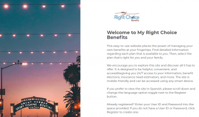 My-Right-Choice-Benefits sign in