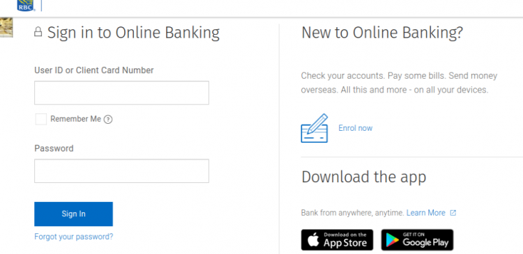 RBC Caribbean Banking Login