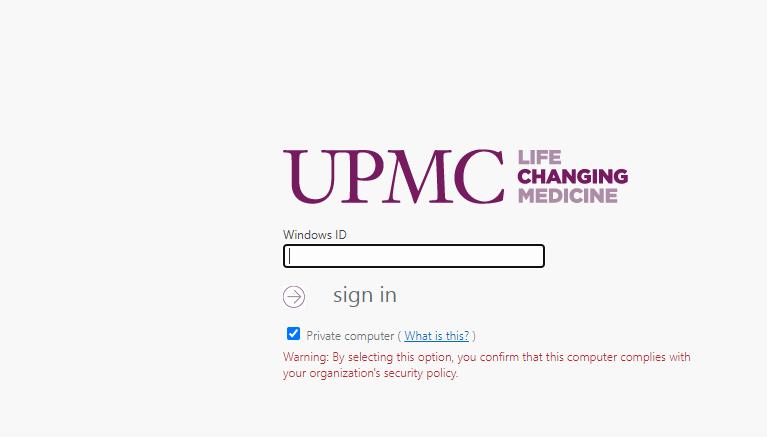 upmc login
