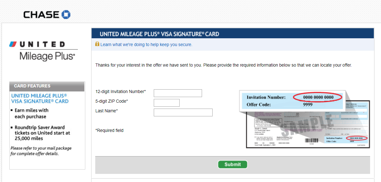 chase United Mileage Plus Card apply