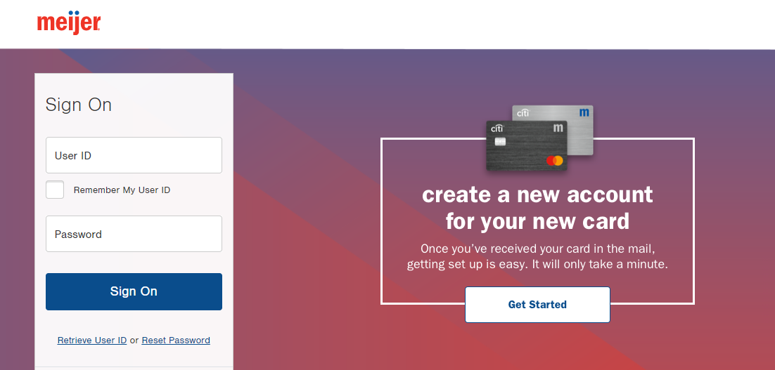 meijer credit card activation