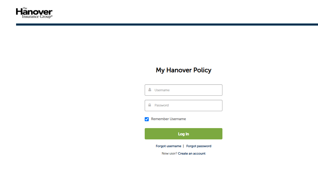 my hanover policy login