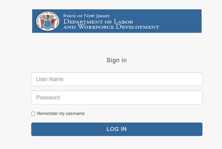 nj unemployment claim login