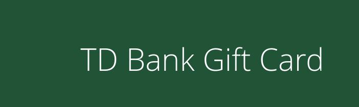 td bank visa gift card