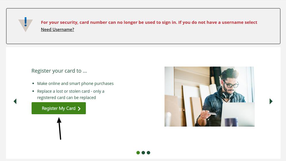 td bank visa gift card register